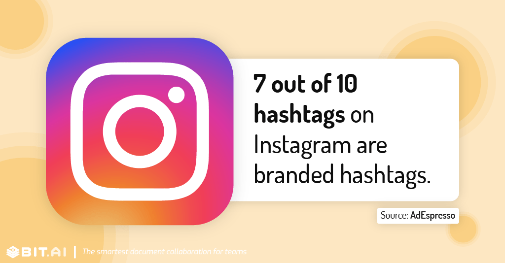 Instagram statistic illustration related to branded hashtags