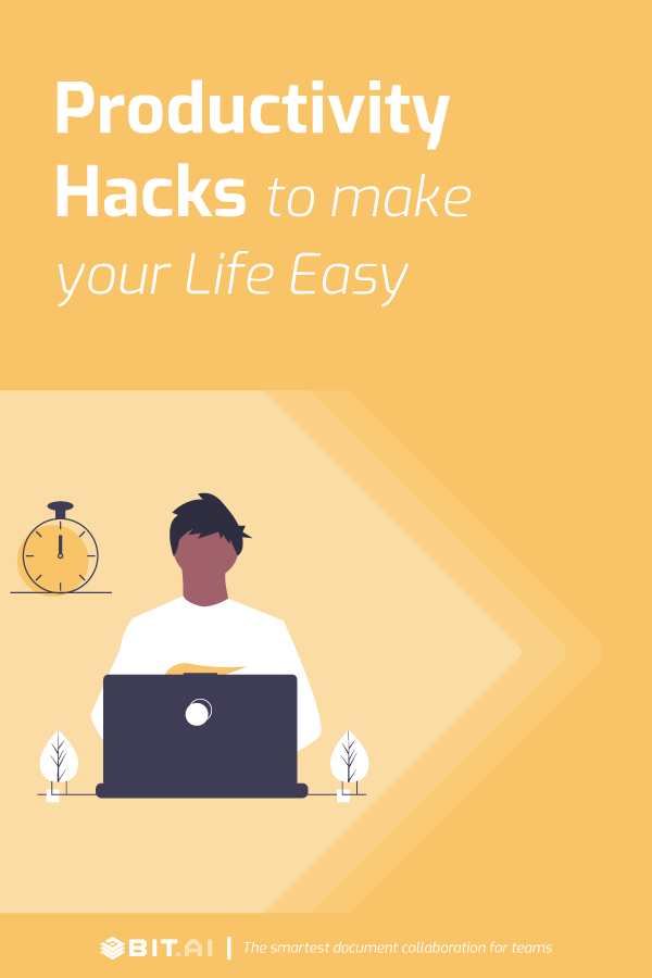 Productivity hacks to make your life easy - Pinterest image