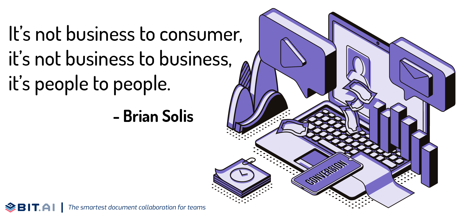 Illustration of quote related to B2B and B2C leads