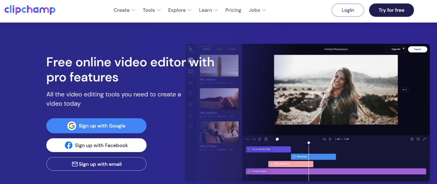 Clipchamp: Video editing software