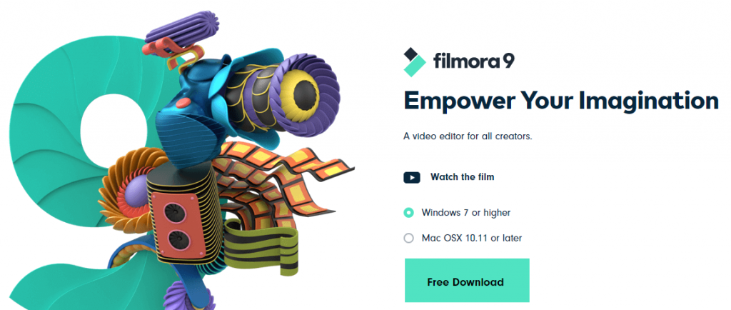 Filmora from wondershare: Video editing software