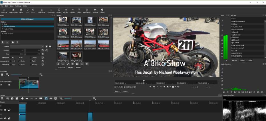 Shotcut: Video editing software