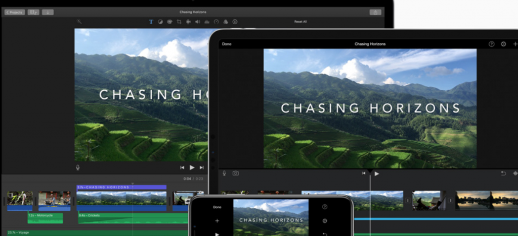 Apple iMovie: Video editing software