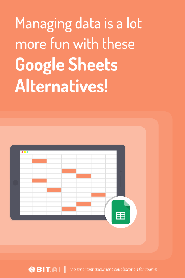 Best google sheets alternatives - pinterest