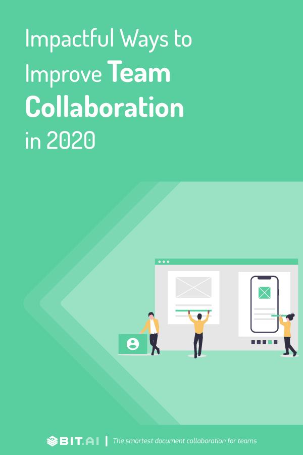 Impactful ways to improve team collaboration - Pinterest image