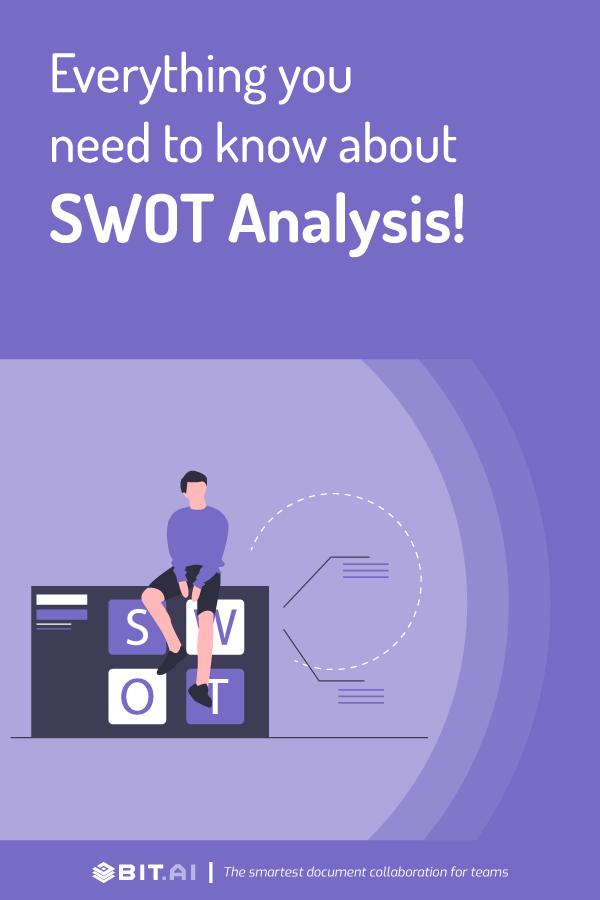 Swot analysis - pinterest image