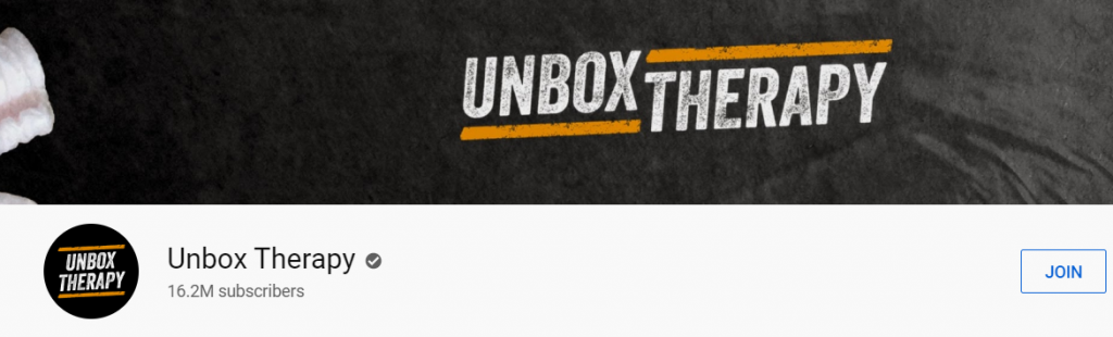 Unbox Therapy: Tech youtube channel
