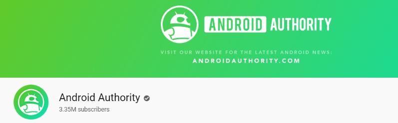 Android authority: Tech youtube channel