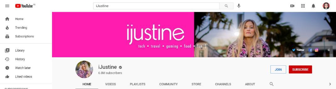 iJustine: Top tech youtuber