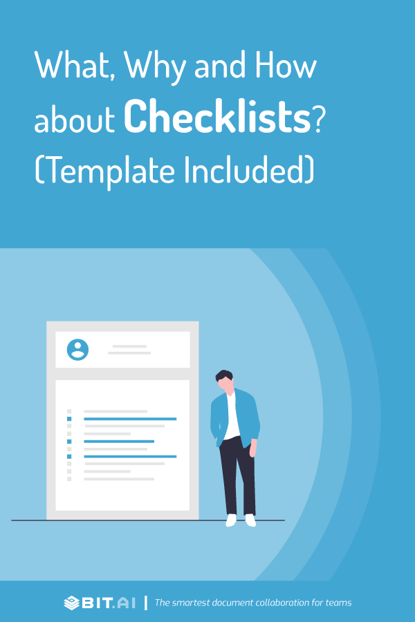 How to create a checklist the right way - pinterest