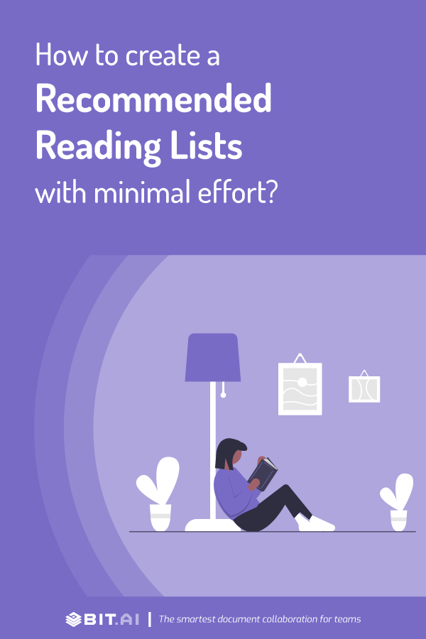 How to create a recommended reading document - pinterest