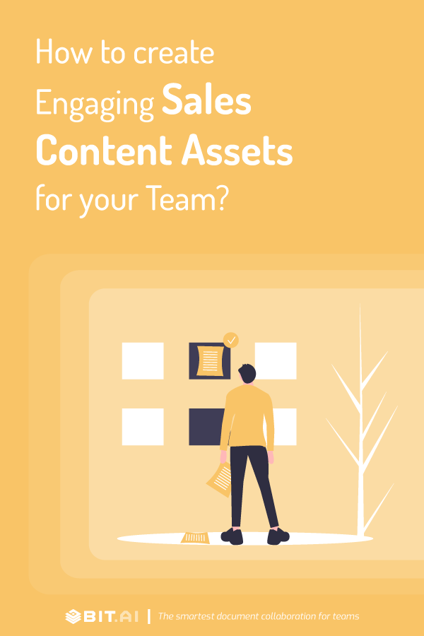How to create sales content assets - blog banner