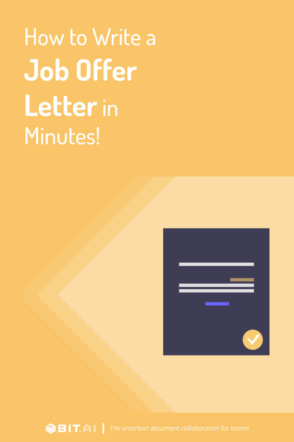 How to write an offer letter - Pinterest