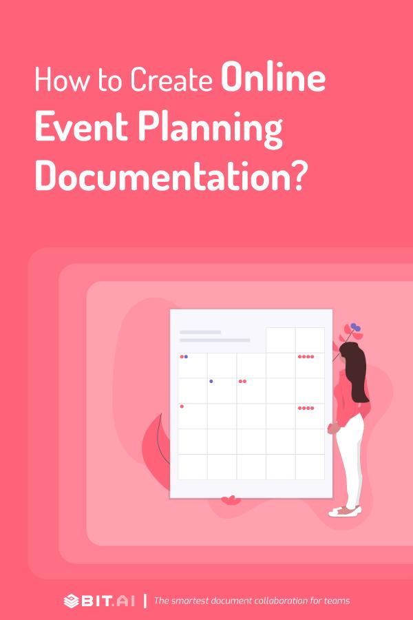 Online event planning document - pinterest