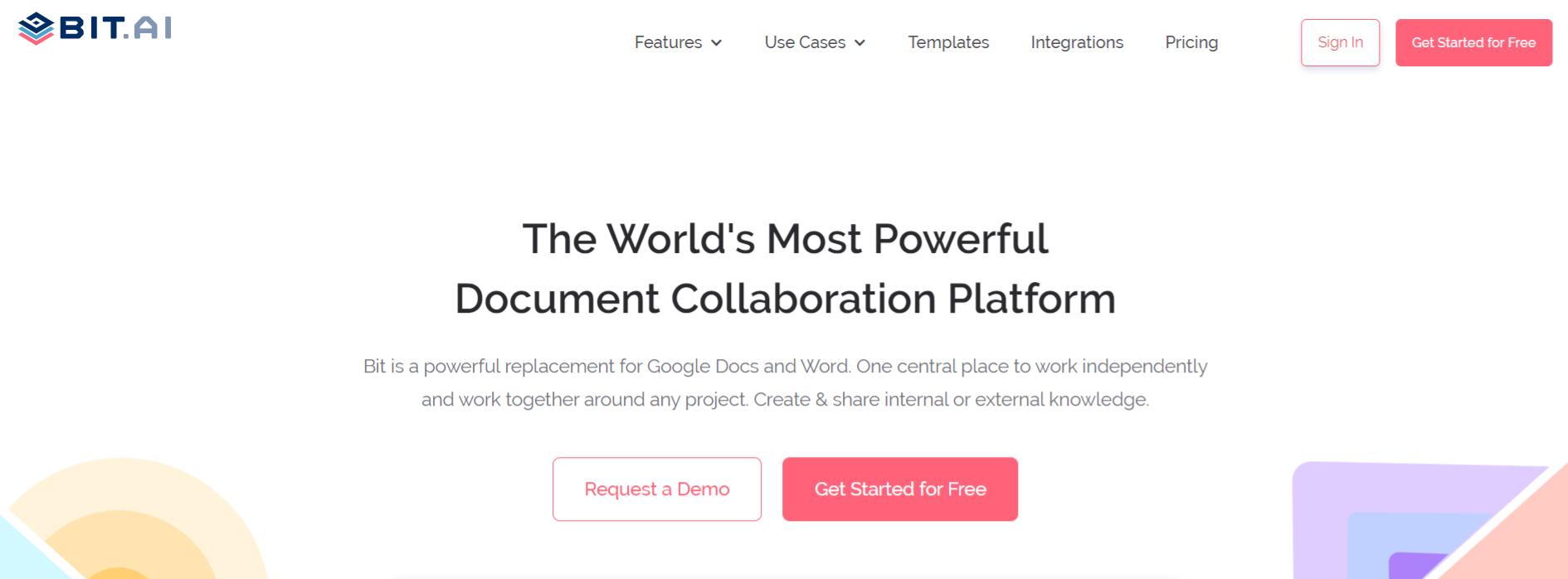 Bit.ai tool for documentation