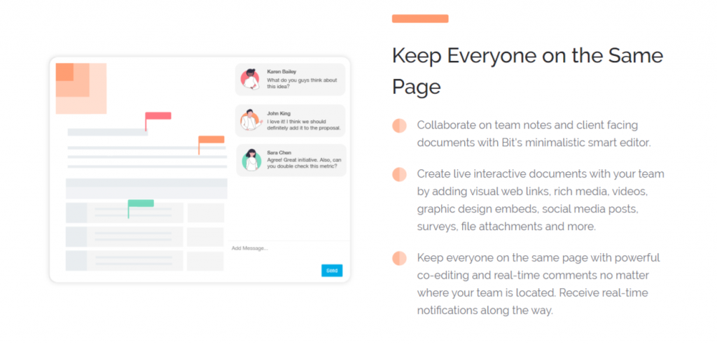 Collaborate with colleagues in real time