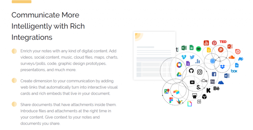 Add rich media integrations to your software design document
