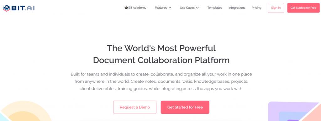 Bit.ai: Document collaboration tool
