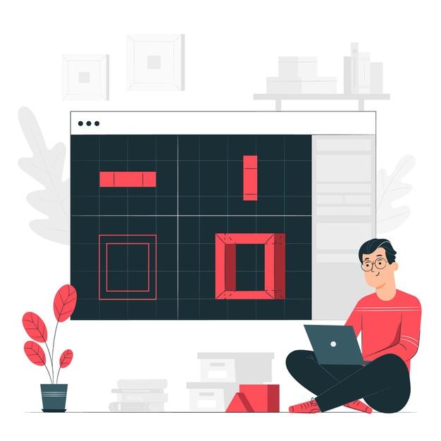 An employee working on a software platform