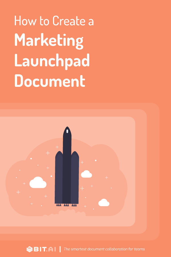 How to create a marketing launchpad document - pinterest