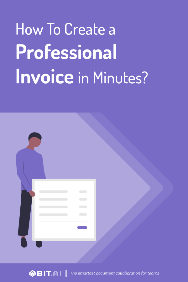 How to create a professional looking invoice - Pinterest