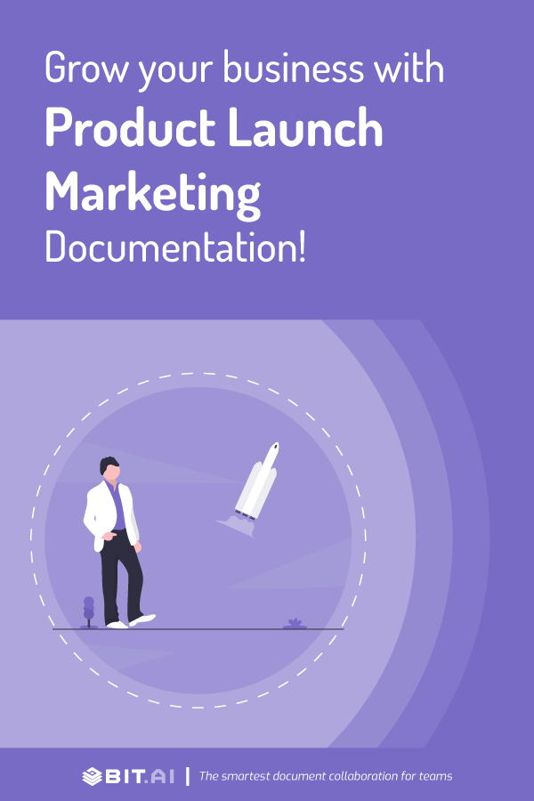 How to craete a product launch marketing document - pinterest