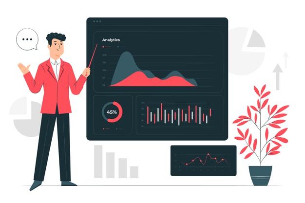 A sales analytics dashboard