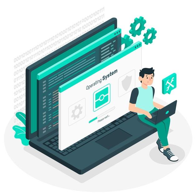An engineer creating a software