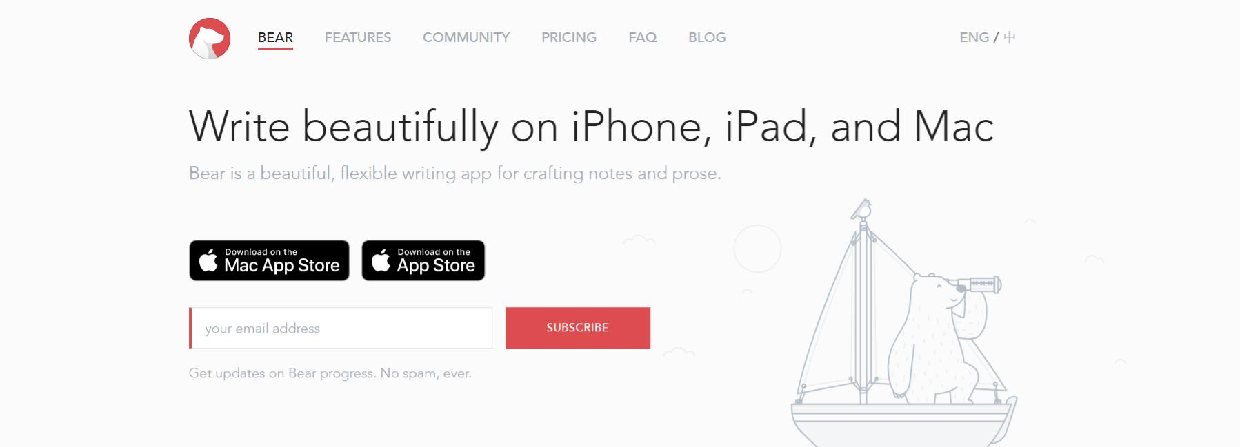 Bear app as wunderlist alternative
