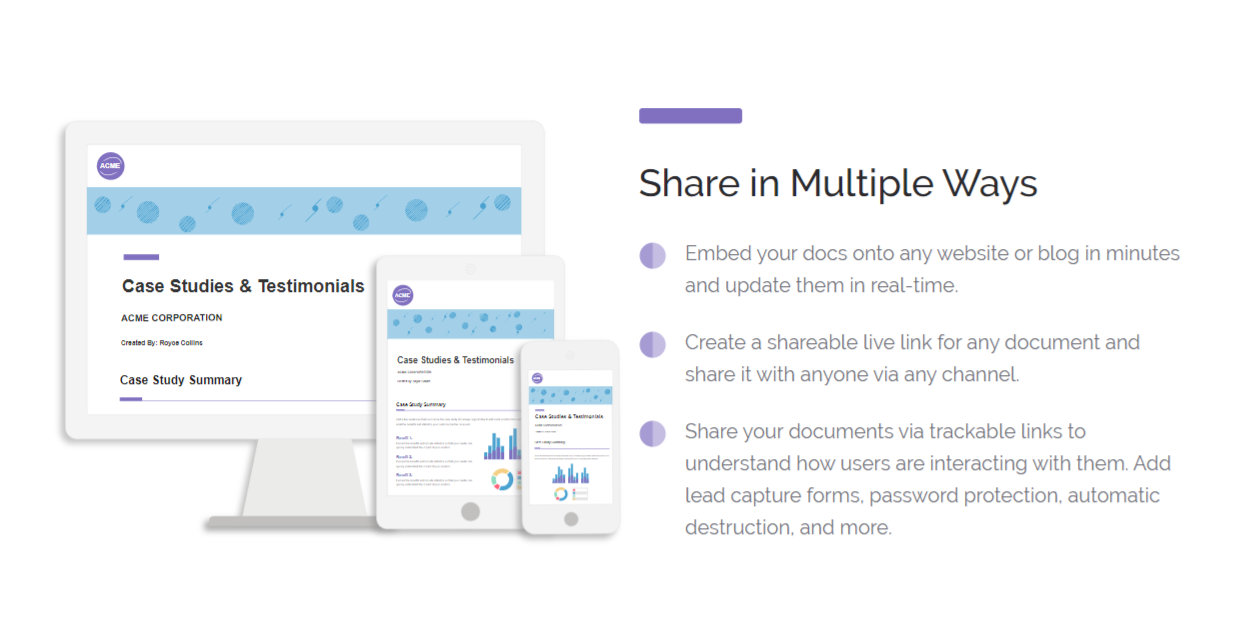 Share your invoice in multiple ways