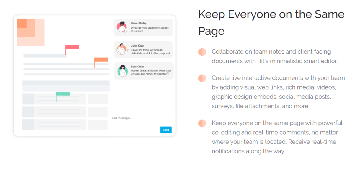 Organizational feature in bit