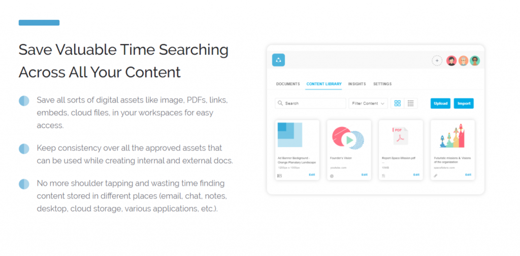 Bit.ai's smart searching features