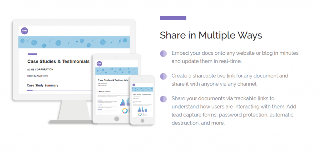 Share your documents in multiple ways with the help of bit.ai