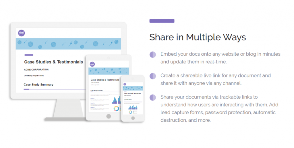 Share operational plan documents in multiple ways