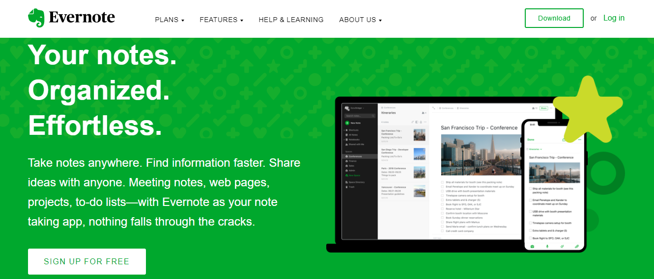 Evernote: Student tool for note-taking