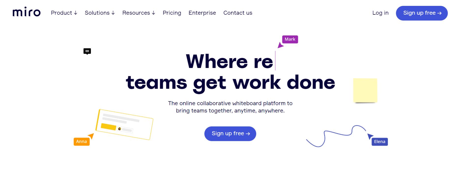 Miro: Remote collabortaion tool