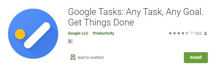 Google task as wunderlist alternative