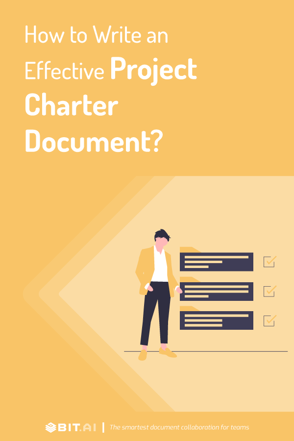 How to write a project charter - pinterest