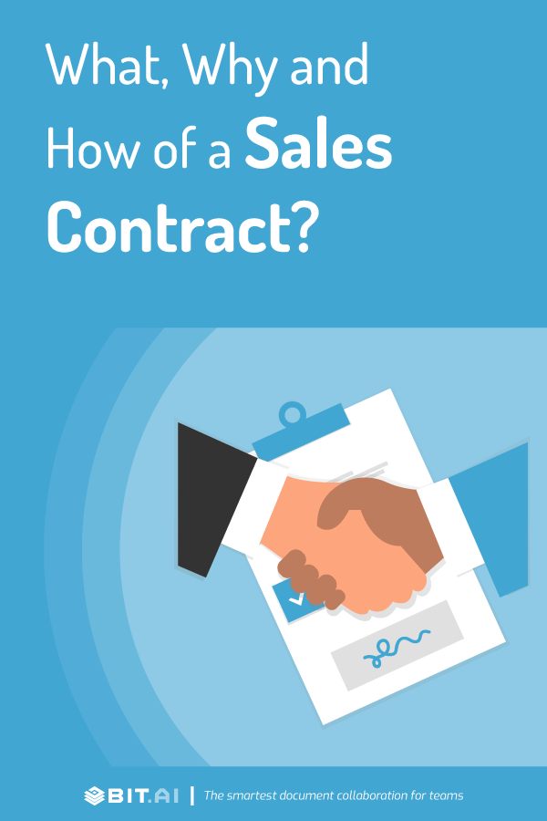 Sales contract - pinterest