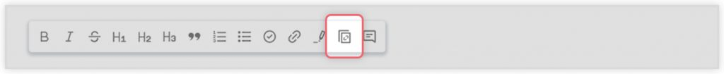 Editor tab