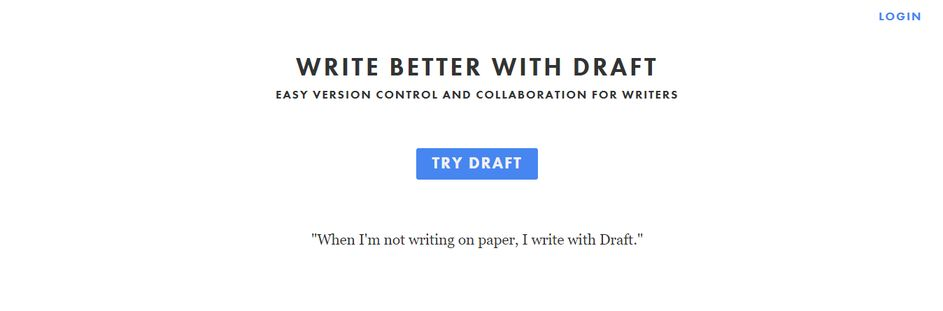 Draft: App for writing a book