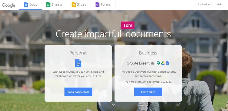 Google docs: App for writing a book