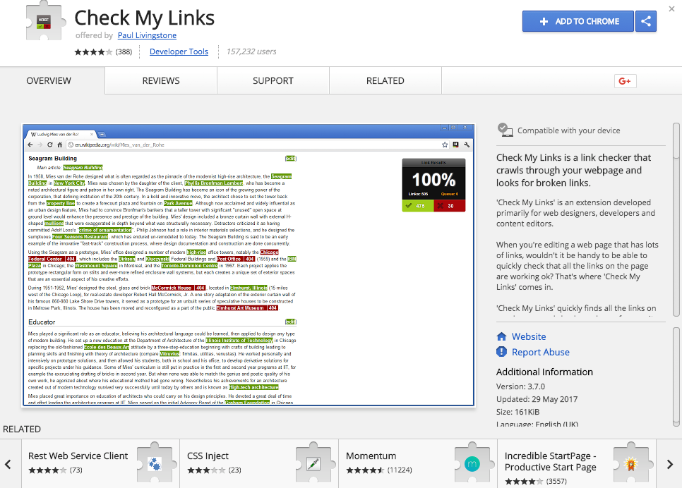 Check my links: chrome extension