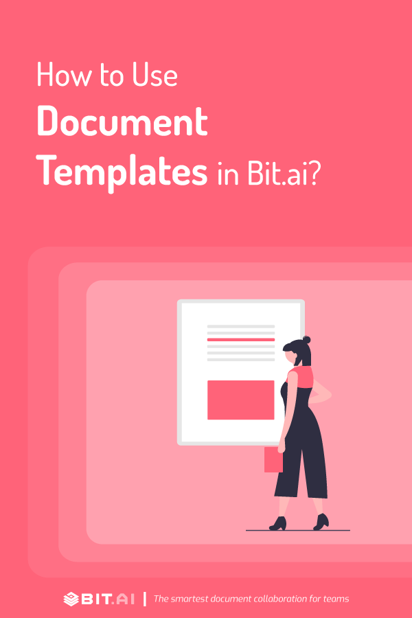 how to use document templates in bit.ai - pinterest