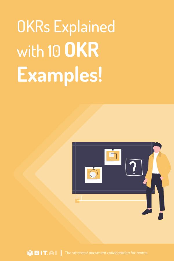 Okr examples - pinterest