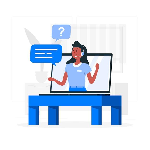 A client portal illustration