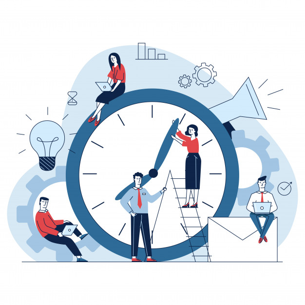 Illustration showing working on excel is time consuming