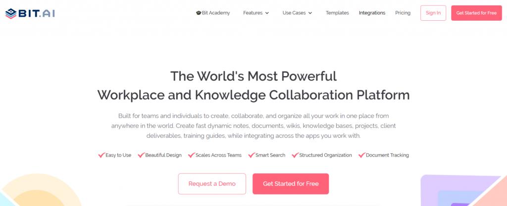 Bit.ai: Software documentation tool