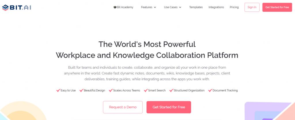 Bit.ai: Student collaboration tool