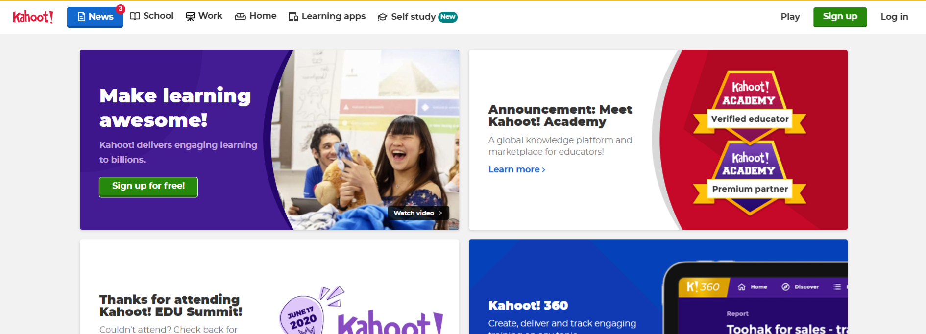 Kahoot: Student collaboration tool